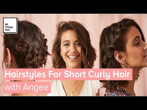 3 easy hairstyles for short curly hair with and without heat Cute Hairstyles For Short Curly Hair For School Inspirations