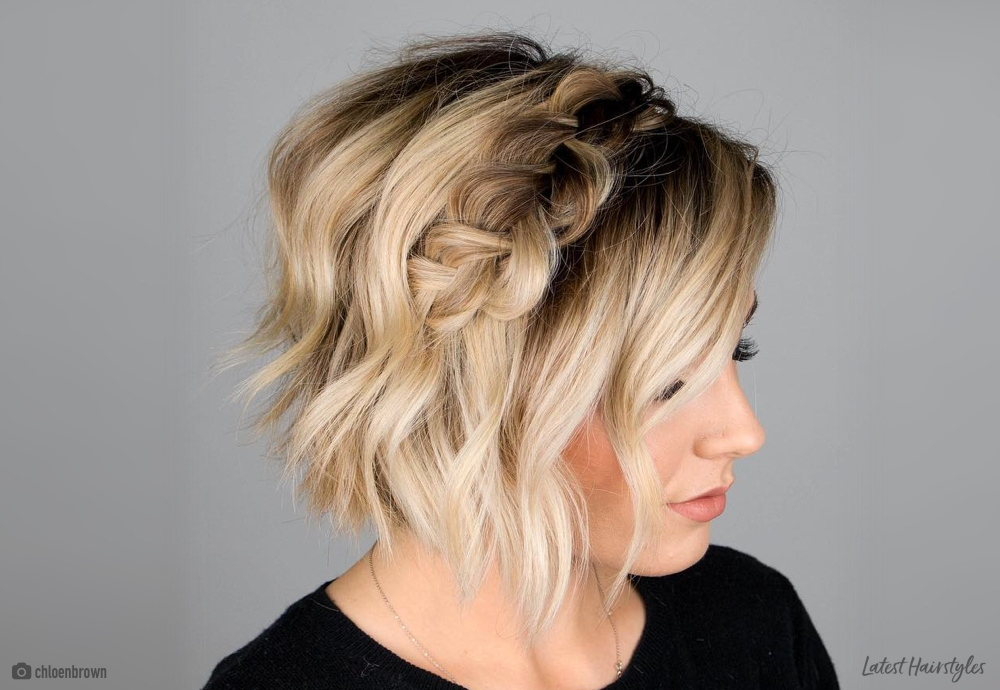 33 cutest braids for short hair Short Hair Styles With Braids Ideas
