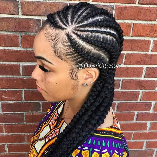 47 of the most inspired cornrow hairstyles for 2020 Black Hair Cornrow Styles Pictures