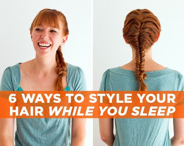 6 ways to style your hair while you sleep Ways To Braid Your Hair Before Bed Ideas