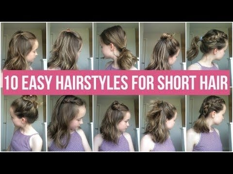 Awesome 10 easy hairstyles for short hair quick and simple School Hairstyles For Short Hair Easy Ideas