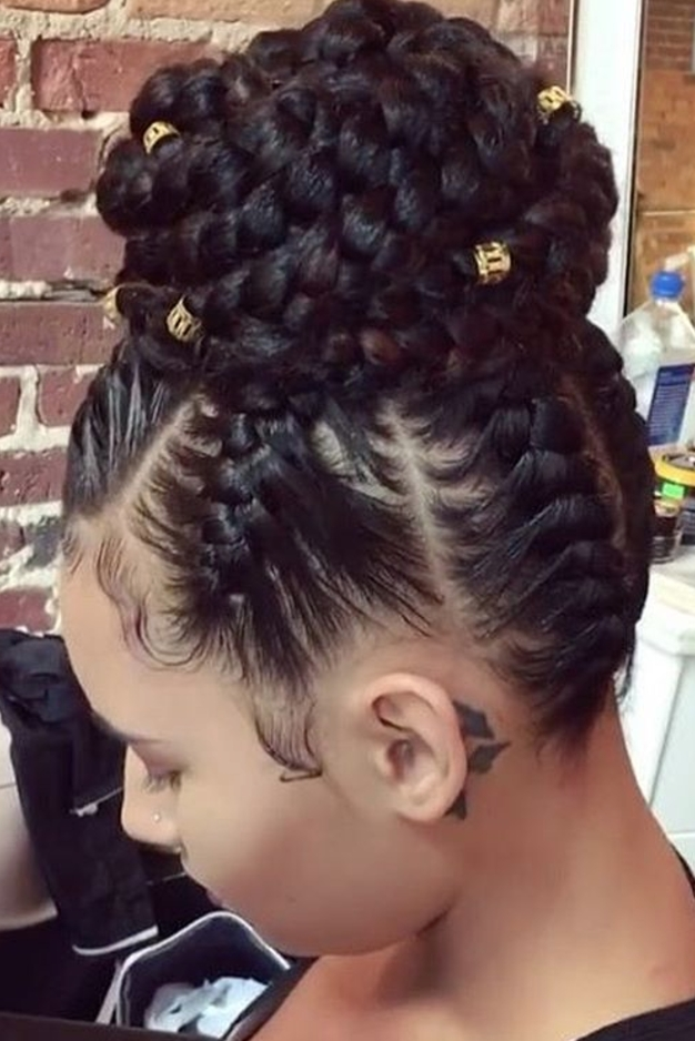 Awesome 20 braided prom hairstyles fit for a queen natural hair African American Prom Updo Hairstyles Designs