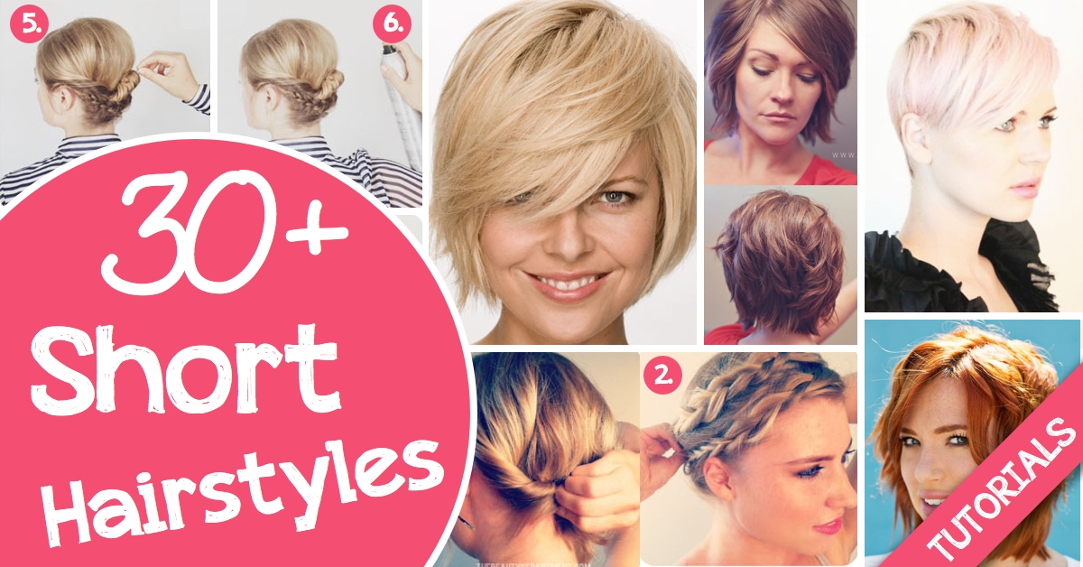 Awesome 30 short hairstyles for that perfect look cute diy projects Diy Hairstyles For Short Hair With Bangs Ideas