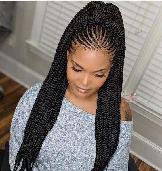 Awesome feed in braids ponytail africanbraids braiding African Braids Hair Style Inspirations