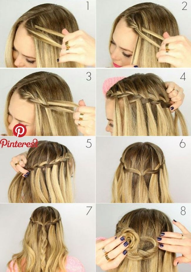 Awesome how to braid pigtail waterfall dryna in 2019 pinterest Hair Braids Step By Step Pinterest Inspirations