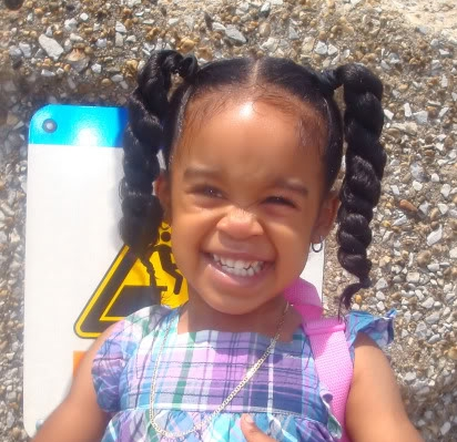 Awesome long ponytails hairstyle african american little girls American Little Girls Designs