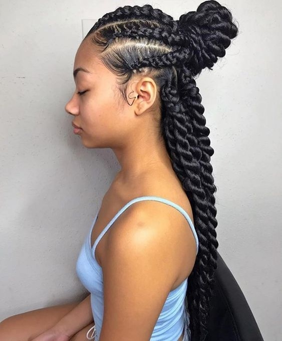 Awesome pin on braided hairstyles Girl Black Braids Hairstyles Inspirations