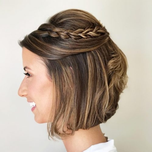 Best 19 cute easy updos for short hair Up Hair Styles For Short Hair Inspirations