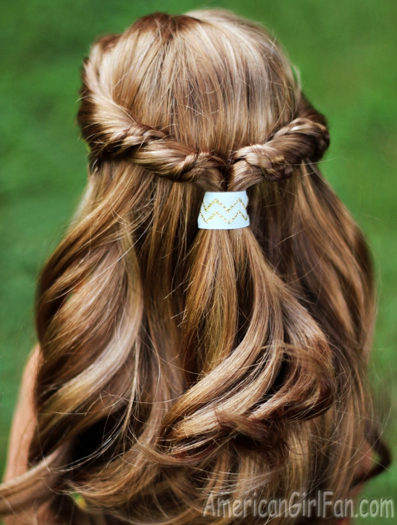 Best american girl doll hairstyle half up twist with braids Cute And Easy Hairstyles For Your American Girl Doll