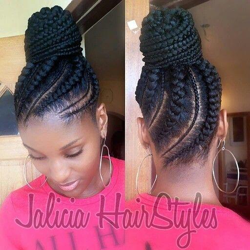 Best cornrow updo hair styles natural hair styles braided African Hair Braiding Styles Updos Ideas