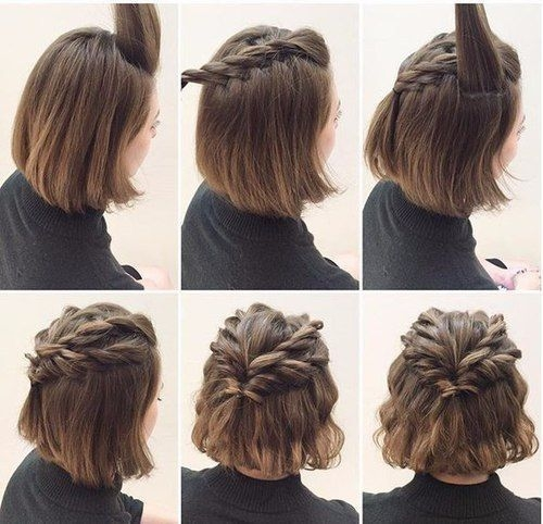Best nice cool easy cute hairstyle for short hair tutorial Updos For Short Hair Tumblr Choices