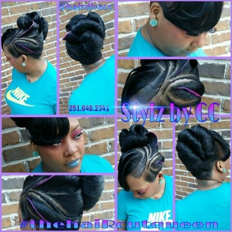 Best nice upstyle short hair short hair styles black hair updo African American Pin Up Hairstyles For Short Hair Designs