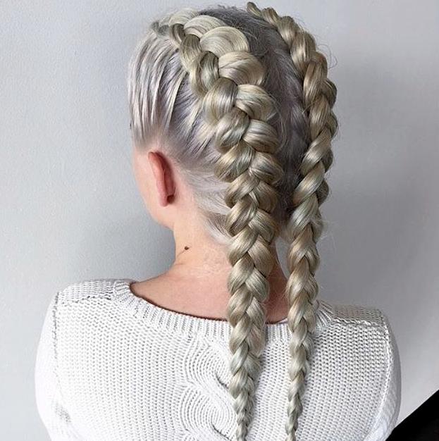 Best pin on braids White Hair Braid Styles Ideas