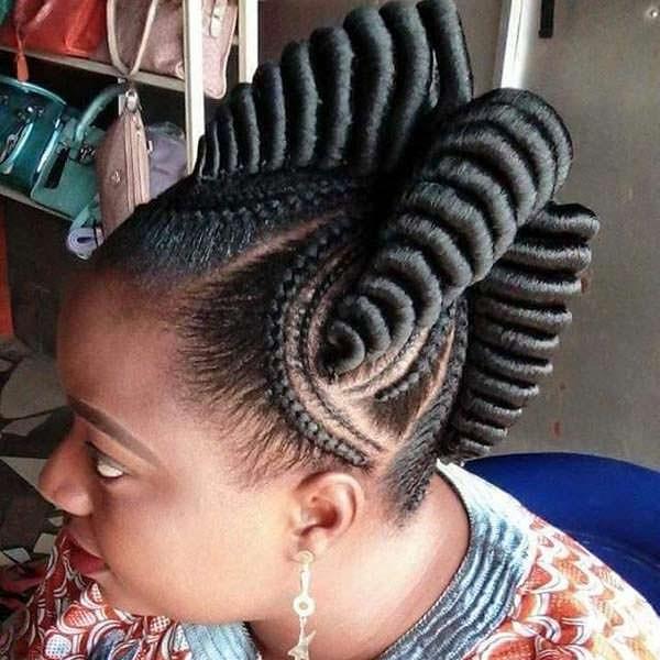 Best top 115 sexy african braid styles of 2019 bun braids African Braids Hairstyles Ideas