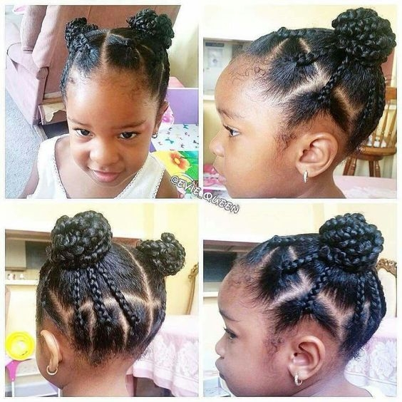 Cozy 10 cute back to school natural hairstyles for black kids Simple African American Hairstyles Ideas