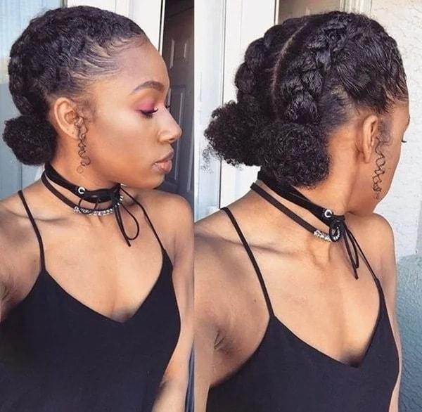 Cozy top 30 black natural hairstyles for medium length hair in 2020 Simple African American Hairstyles Designs