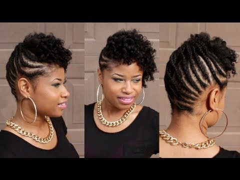 curly braided updo on natural hair Braid Style For Natural Hair Choices