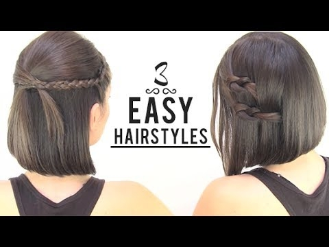 easy hairstyles for short hair Diy Hairstyles For Short Hair With Bangs Choices