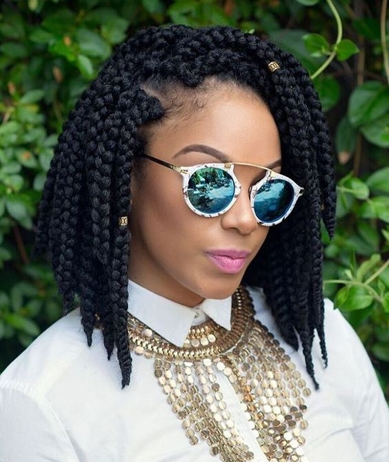 Elegant 30 short box braids hairstyles for chic protective looks Latest Short Braiding Hairstyle Photos Ideas