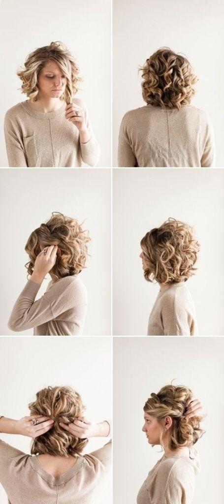 Elegant cute bun hairstyles for short hair updo for curly hair Cute Updo Styles For Short Curly Hair Inspirations