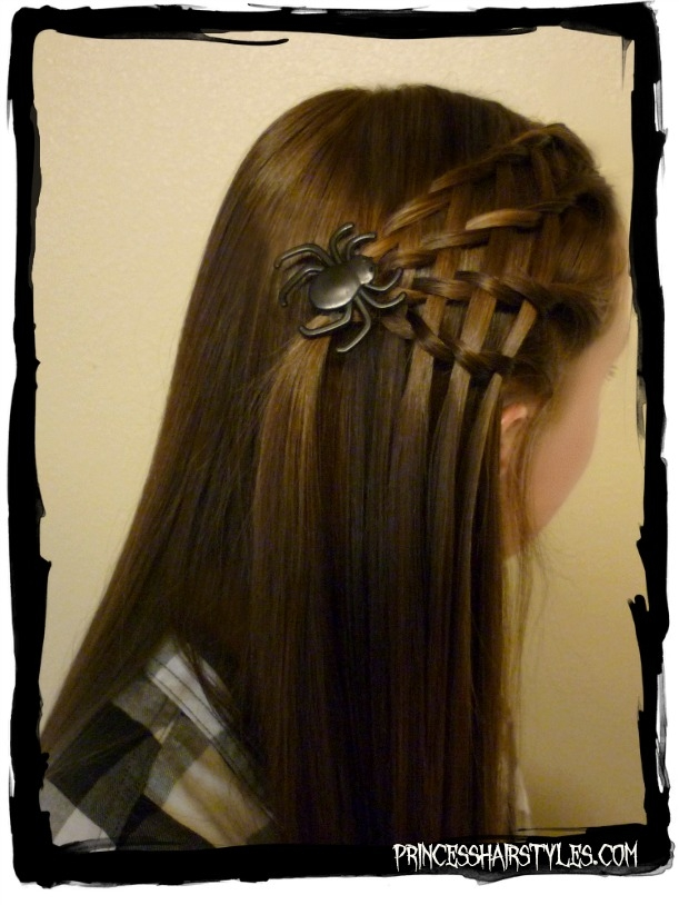 Elegant easy spider web hairstyle hairstyles for girls princess Cute Halloween Hairstyles For Short Hair Inspirations