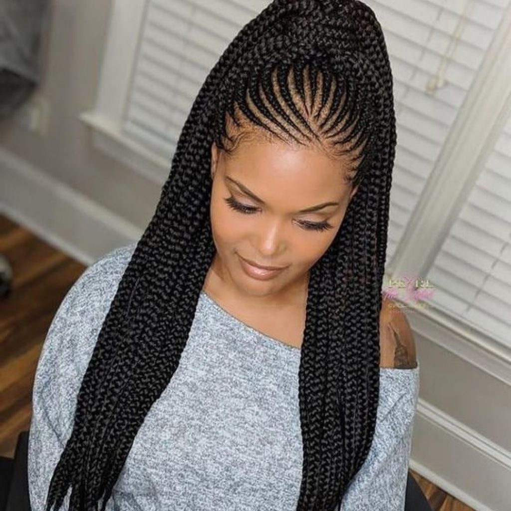 Elegant feed in braids ponytail africanbraids braiding African Hair Braiding Choices