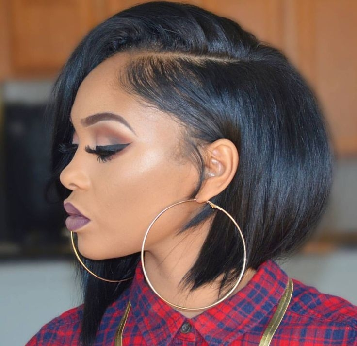 Elegant jun short hair styles for round faces front lace wigs Short Black Bob Hairstyles Pinterest Inspirations