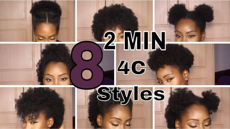 Elegant pin on natural hair growing tips Quick Natural Hairstyles For Short 4c Hair Choices