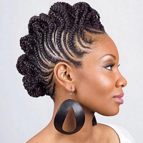 Elegant see 50 ways you can rock braided mohawk hairstyles hair Natural Hair Styles Braided Mohawk Ideas