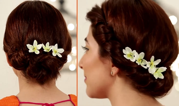 flaunt these chic hairstyles for short hair this wedding Hairstyle For Very Short Hair On Saree Choices
