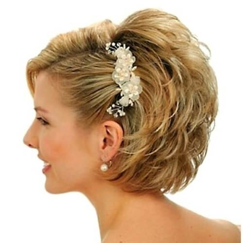 Fresh 50 superb wedding looks to try if you have short hair hair Short Hairdos For Wedding Guest Ideas