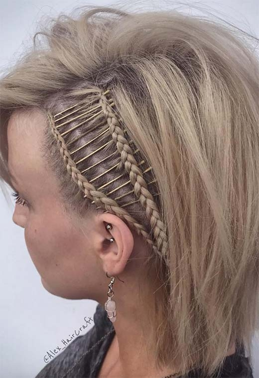 Fresh 73 stunning braids for short hair that you will love Plait Styles For Short Hair Choices