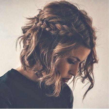 Fresh braids curly hair cute short hair tumblr hair image Updos For Short Hair Tumblr Choices