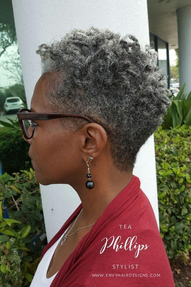 Fresh butter cream cake with fondant accents grayhair short Pinterest Short Natural Haircuts Inspirations