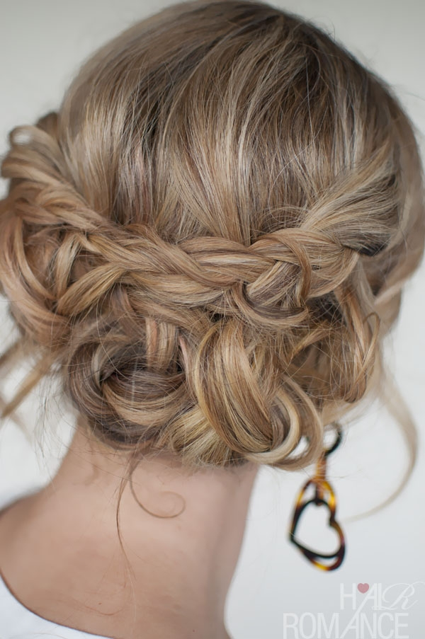 Fresh casual messy braided updo the best braided updos for Loose Braid Updo Long Hair Ideas