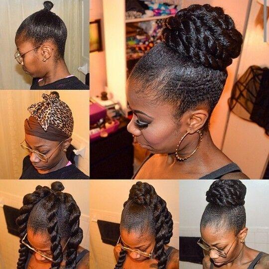 Fresh faux bun natural hair updo natural hair styles hair styles Bun Styles With Braiding Hair Ideas
