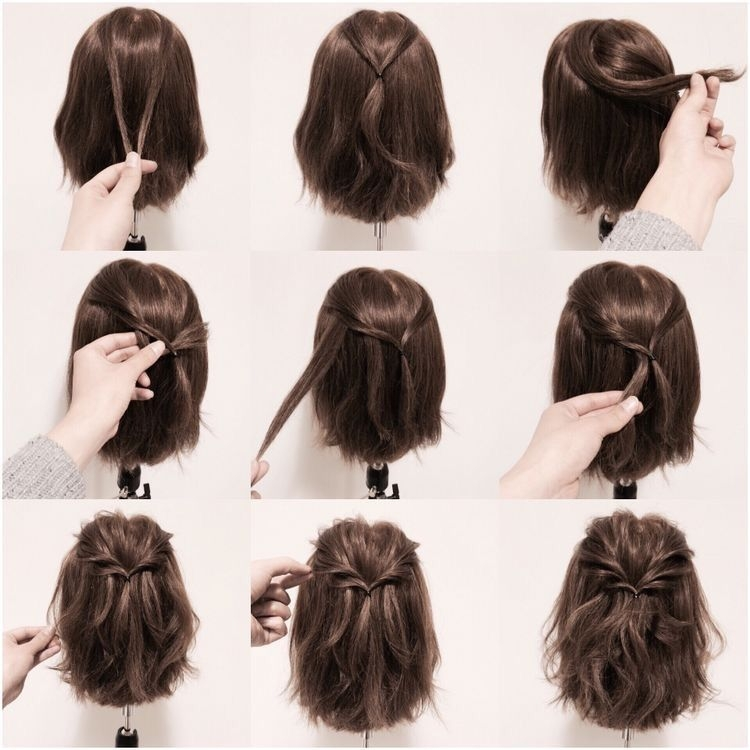 Fresh httpss media cache ak0pinimgoriginals9a6ce1 Hairstyles With Short Hair Step By Step Choices