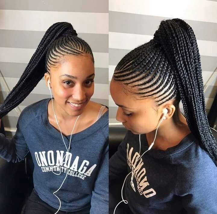 Fresh schne straight up braids frisuren 2018 inspiration neu Straight Up Braided Hairstyles Ideas