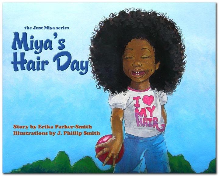 miyas hair day a natural hair book for kids hairstyle African American Hairstyle Books Designs