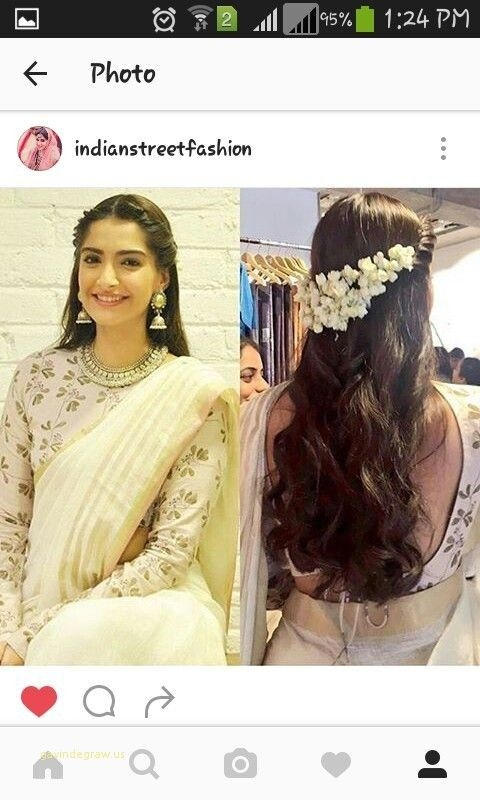 new dinner hairstyle for saree saree hairstyles Simple Hairstyle For Short Hair On Saree Ideas