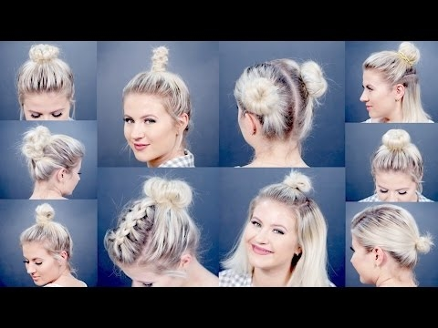 Stylish 10 easy different bun hairstyles for short hair milabu Short Hair Bun Styles Choices