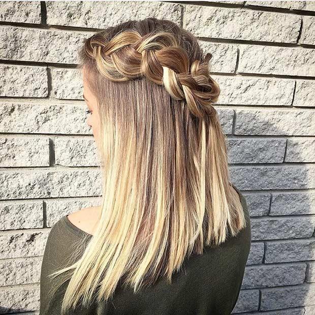 Stylish 17 chic braided hairstyles for medium length hair stayglam Easy Braid Ideas For Medium Length Hair Inspirations