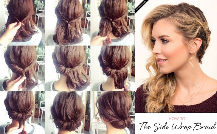 Stylish 60 easy step step hair tutorials for long mediumshort Cute Short Hairstyles You Can Do At Home Ideas