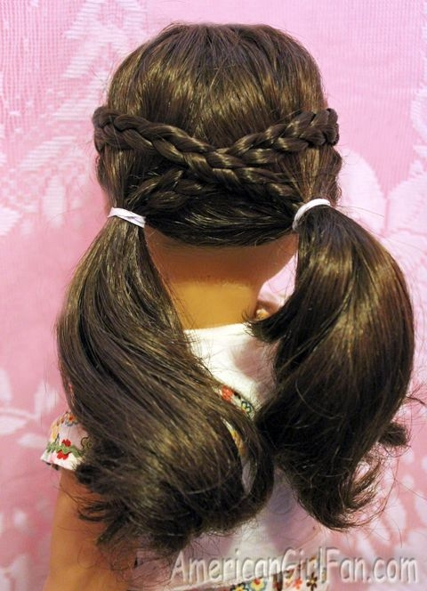 Stylish cross over pigtails american girl hairstyles american Cool Hairstyles For American Girl Dolls