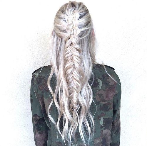 Stylish pin color joy on hairstyles tumblr hair hair styles White Hair Braid Styles Inspirations