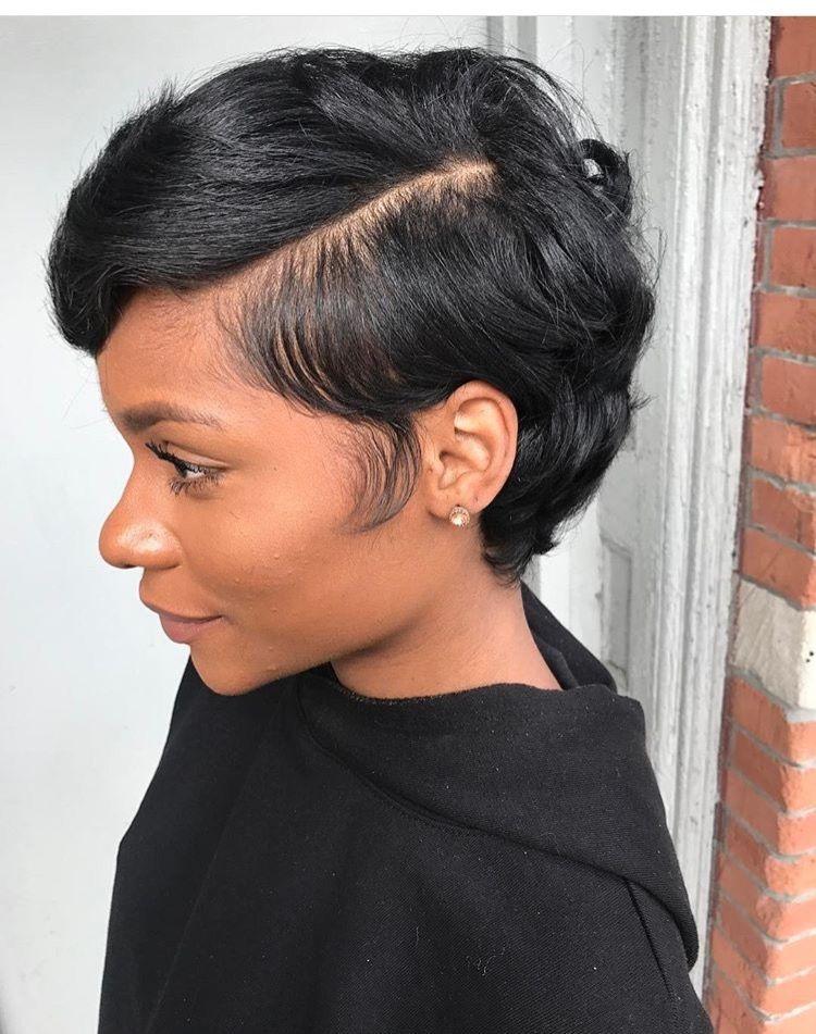 Stylish pin on finger wavespixie cuts Short Black Hairstyles Pinterest Ideas