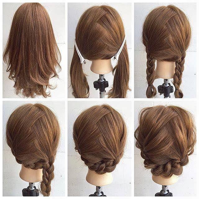 Stylish pin on good hair day Easy Braid Ideas For Medium Length Hair Choices