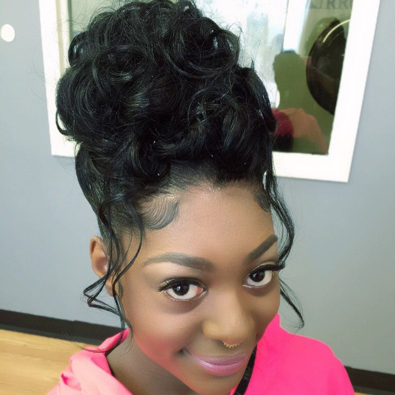Stylish prom hair black hair updo hairstyles hair styles natural African American Girl Hairstyles For Weddings