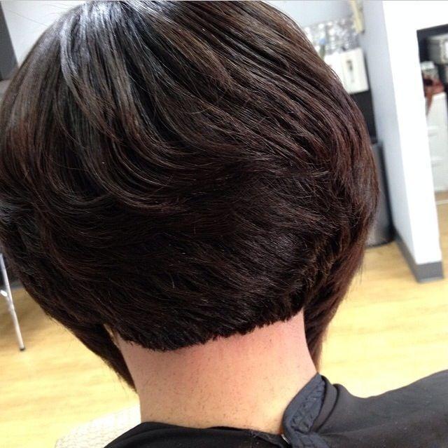 Stylish short bob hairstyles for black women back view hair styles Black Short Layered Haircuts Choices