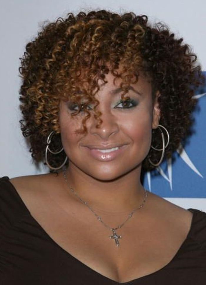 Stylish top 10 cute curly hairstyles for round faces 2015 short African American Hairstyles Curls Ideas